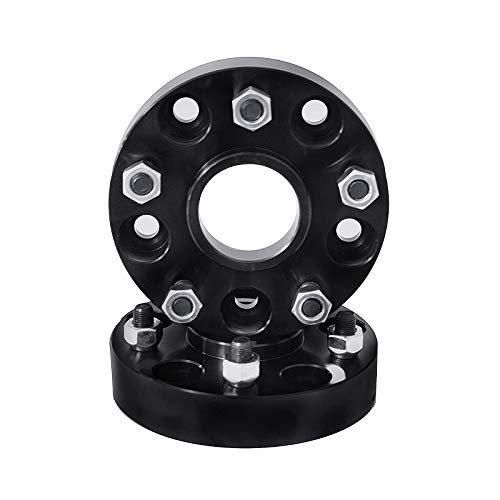 - 2 QTY Black Wheel Spacers Adapters 3