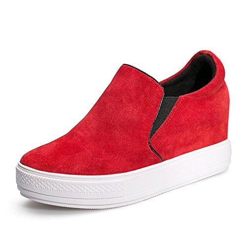 Grueso redondo cabeza alta zapatos femeninos en el final de/ zapatos de plataforma flat-bottom A