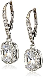 """Judith Jack """"Radiance"""" Sterling Silver Crystal and Cubic Zirconia Faceted Drop Earrings"""