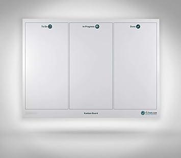 Vi-Board Kanban Board/ Whiteboard: Enrollable, a doble cara ...