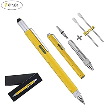 Amazon multi tool pens for mens gifts 6 in 1 tool pen touch multi tool pens for mens gifts 6 in 1 tool pen touch screen stylus pen publicscrutiny Choice Image