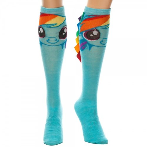 BIOWORLD My Little Pony Rainbow Dash Knee High Socks (Standard), Blue, Sock Size 9-11 ()