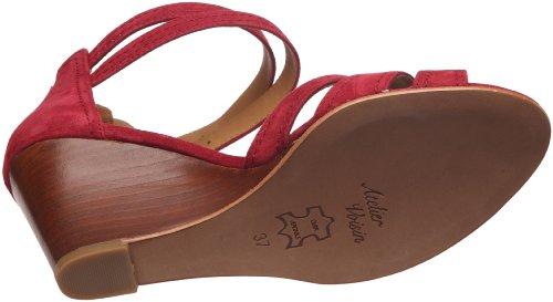 Atelier Voisin - Sandalias de cuero para mujer Rojo