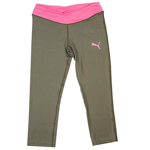 Puma Youth Yoga Pants - Capri Length Leggings Grey/Pink Medium