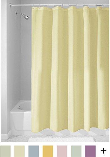 InterDesign Mildew-Free Water-Repellent Fabric Shower Curtain, 72-Inch by 72-Inch, Azure -  - shower-curtains, bathroom-linens, bathroom - 41kGZ%2BdWKRL -