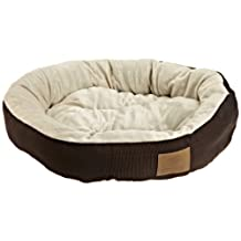American Kennel Club Casablanca Round Solid Pet Bed, Brown
