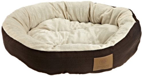 Image of AKC Casablanca Round Solid Pet Bed