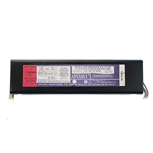 F40t12 Magnetic Ballast - Advance Philips VC-2SP40 Magnetic Ballast, 2-Lamp, F40T12, 40W T12, 277V