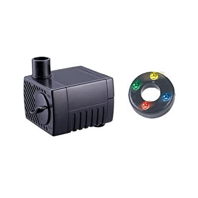 Jebao PP300LED Water Pump 40 GPH For Indoor/Table Top Fountains 4 LED's