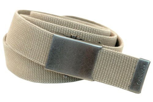 Columbia Men's & Boys' Military Web Belt - Adjustable One Size Cotton Strap and Metal Plaque Buckle 511 Leather Casual Belt