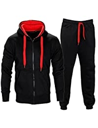 Mens Contrast Tracksuit Hoody and Jogset Size Small to 5XL