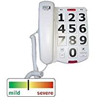 FCC Approved High Volume 40dB Cool Fashioned Style House School Large Push Button Red 911 Emergency Key Corded Phone For Old Has Low Vision Visually Sight or Hearing Impaired In 1940s 1920 1950s 1930s