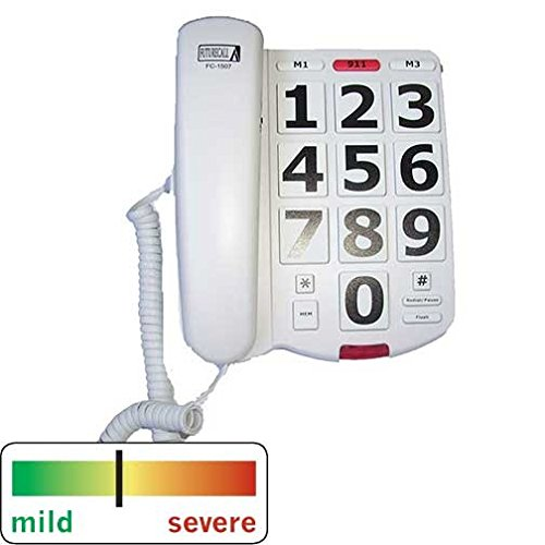 FCC Approved 40 dB Extra Large Big Button Keypad Easy To Use House 911 Emergency Key Special Need Amplifying Phone Low Vision Sight Visually Hard Of Hearing Impaired Elderly Senior Citizen Old People