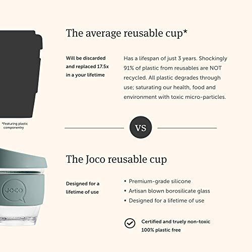 JOCO Glass Reusable 12oz Coffee Cup (Deep Teal)