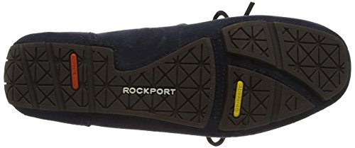 Rockport Classic Flash One Eye Tie - Mocasines para hombre New Dress Blues Suede