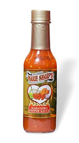 Marie Sharp's Fiery Hot Habanero Hot Sauce 5oz (5 FL.OZ. / 148 ml) (3 Pack)