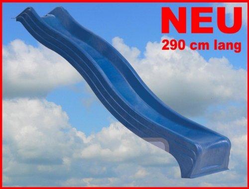 Wellenrutsche Kunststoff 2,90m BLAU