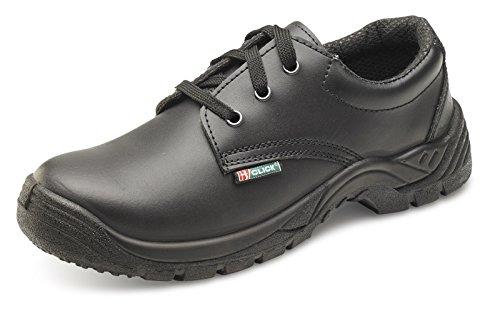 Click pelle liscia Tie scarpe nero 09