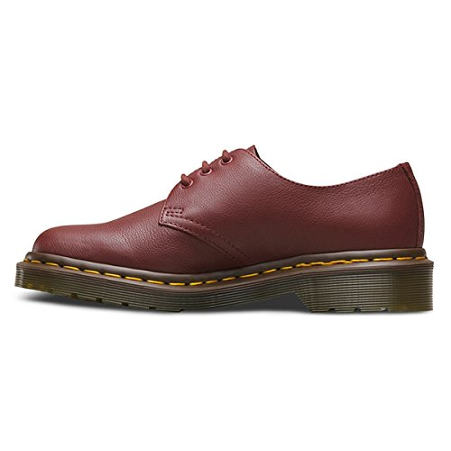 Martens Granate 1461 Virginia Leather Eyelet Womens Shoes 3 Dr pPBwB