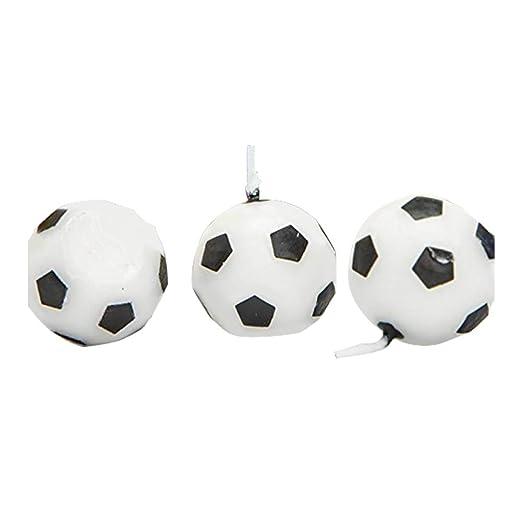 Leisial 3 Velas en Forma de balón de fútbol, parafina ...