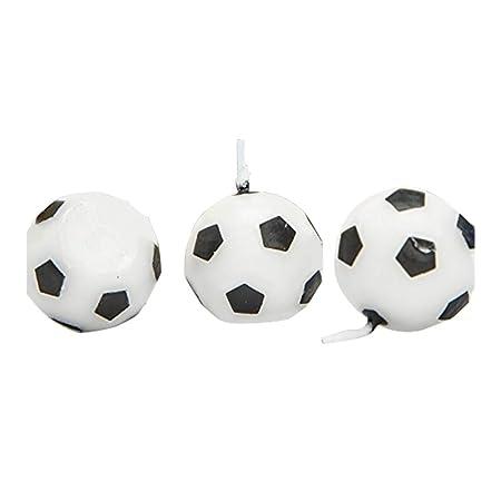 Leisial 3 Velas en Forma de balón de fútbol, parafina, Material ...