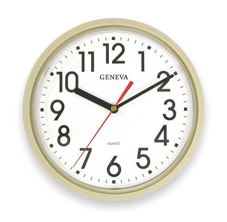 GENEVA 5H496 Clock, Quartz, Round ()
