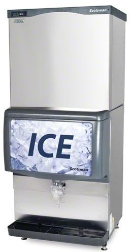 Scotsman C0830MW-32A_ID250B_KBT44 924 Lb Water-Cooled Medium Cube Ice Machine w/ Ice Dispenser by Scotsman