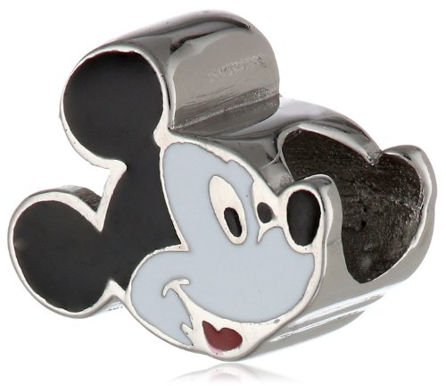 Disney Stainless Steel Mickey Enamel Bead Charm Pugster Mickey Mouse Charm