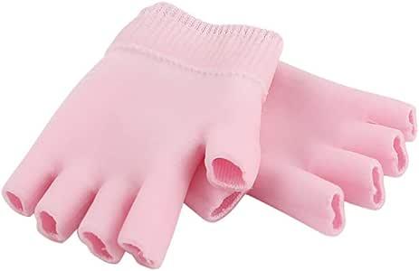 HEALLILY guantes de gel hidratante para manos durante la noche para el tratamiento de manos secas guantes de humedad guantes de spa para la piel de algodón durante la noche con gel
