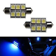 iJDMTOY 6-SMD 1.50 inches 6411 6418 LED Interior Map Dome Lights, Ultra Blue