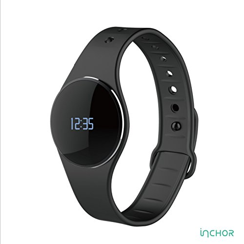 Inchor L16 Smart Wristfit Ultra-thin Sport Bracelet Pedometer Sleep Monitor Call Reminder Full Touch Smartwatch Wristband IP67 Waterproof Bluetooth 4.0(black)