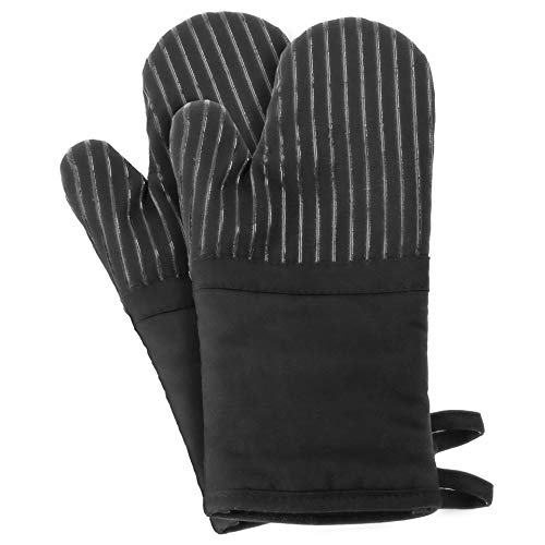 ARCLIBER Oven Mitts 1 Pair of Quilted Cotton Lining - Heat Resistant Kitchen...
