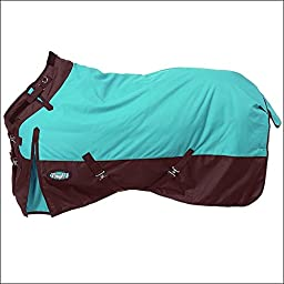 TOUGH-1 1200D WATERPROOF POLY TURNOUT HORSE WINTER BLANKET ADJUST SNUGGIT NECK 69-84 Inch TURQUOISE