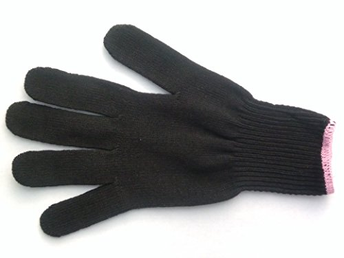 PAIR 2x EVB Heat Resistant Glove for Flat Iron Hair Straighteners, Curling Irons and Wands. (Heat Glove Hair compare prices)