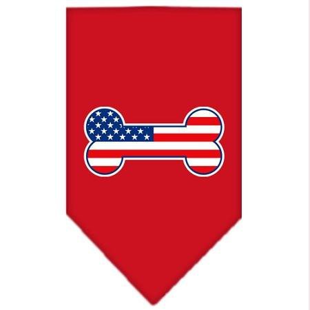 Red Bandana Pet Stores (Mirage Pet Products Bone Flag American Screen Print Bandana for Pets, Large,)
