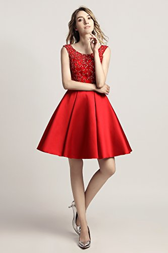 Lx439 Belle House Homecoming Beading Ball Line Prom A for Gown red Women's Juniors Short Dress 1Oqd1rw