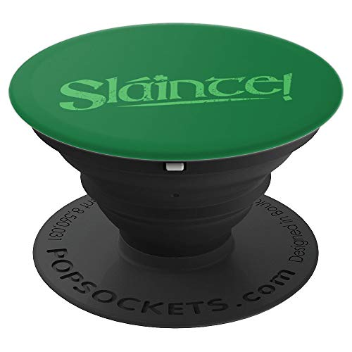 Slainte! Irish Gaelic Cheers St. Patrick's Day Gift - PopSockets Grip and Stand for Phones and Tablets