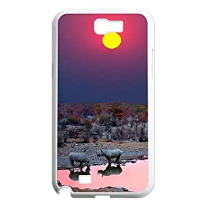 Africa Unique Design Case for Samsung Galaxy Note 2 N7100, New Fashion Africa Case hjbrhga1544