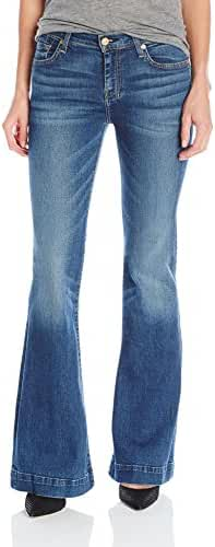 7 For All Mankind Women's Petite Size the Tailorless Dojo Trouser Jean (Short Inseam)