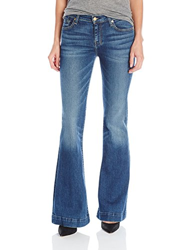 7 For All Mankind Women's Flare Wide Leg Jean, Medium Melrose, 31