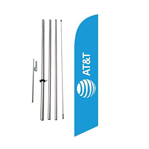 new-att-logo-blue-advertising-feather-flag-banner-w-pole-kit-and-ground-spike