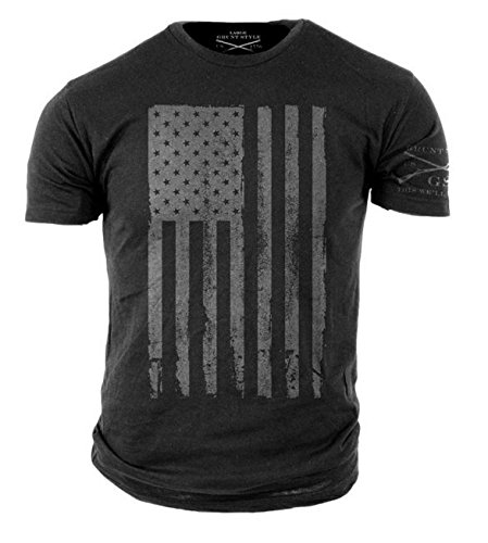 Grunt Style America Men's T-Shirt (X-Large, Grey)