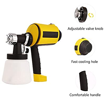 Professional Car Electric Easy Paint Spray Gun 800ml/min Paint Sprayer with Three Spray Patterns for House Door Painting Jobs