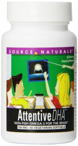 Source Naturals Attentive DHA 100mg Kids Fish-Free, Pure Omega-3 Supplement - 60 ()