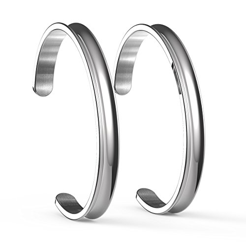 COMISAN Stainless Grooved Silver Bracelet product image