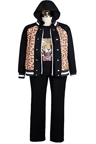 Charlie Supernatural Costume - Costhat High School Sportswear Tiger Head Uniform Outfit Suit Jacket Coat Hoodie Cosplay Costume