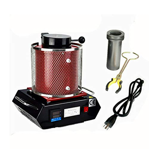 g Furnace Digital Melter 3Kg Gold Silver Jewelry Tool 2100W Casting Refining for Precious Metals Gold Silver Tin Aluminum ()