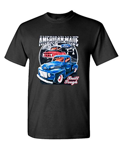 Ford American Made - USA Patriot car Truck SUV - Cotton Tee, L, Black USA Made