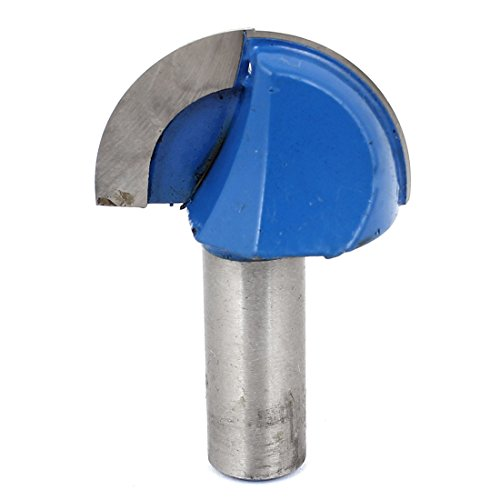 Woodworker 1/2 Inch x 1 1/2 Inch 2 Flutes Cove Box Router Bit Cutter (1/2 Inch Shank Round Nose Router)