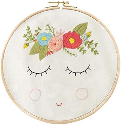 FunPa Embroidery Starter Kit Simple Flower Pattern DIY Embroidery Set DIY Stitch Kit